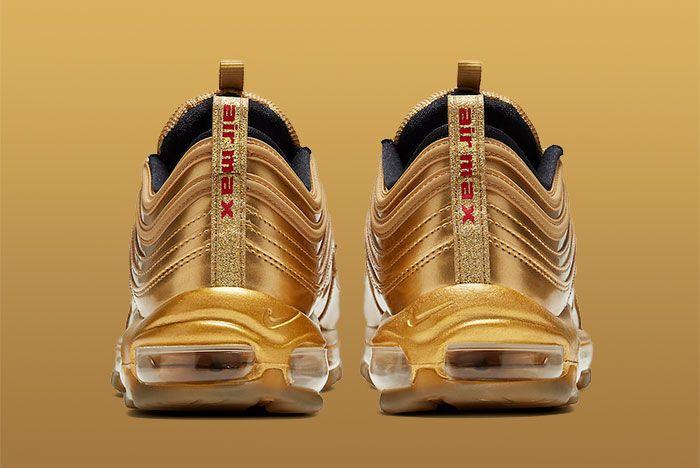Nike Air Max 97 Gold Medal Ct4556 700 Heel