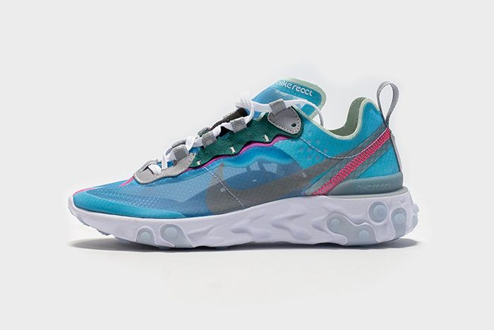 Nike React Element 87 Royal Tint Aq1090 400 Release Date Side Profile