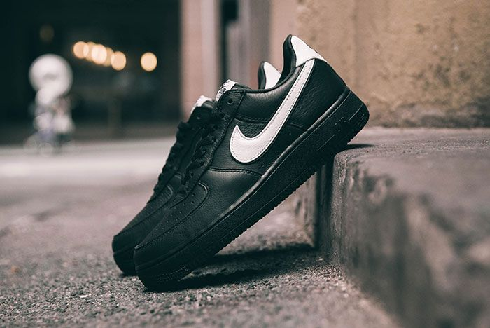 Nike Air Force 1 Qs Black White Friday Angled Lateral