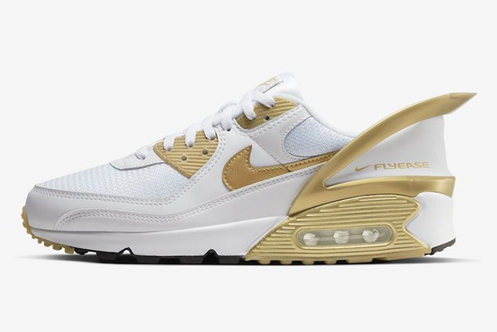 Nike Air Max 90 Flyease Gold Left