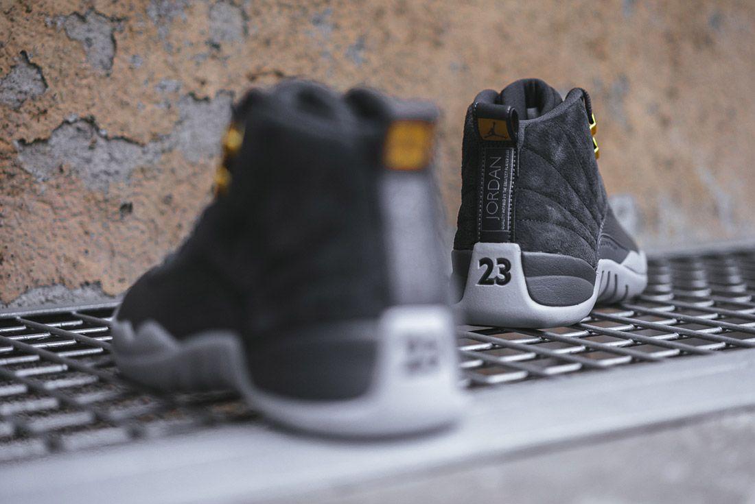 On Foot Air Jordan 12 Dark Grey8