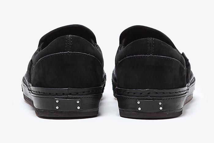 Hender Scheme Vans Slip On Black Heel Shot