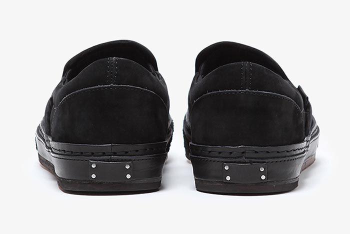 Hender Scheme Vans Slip On Black Heel Shot