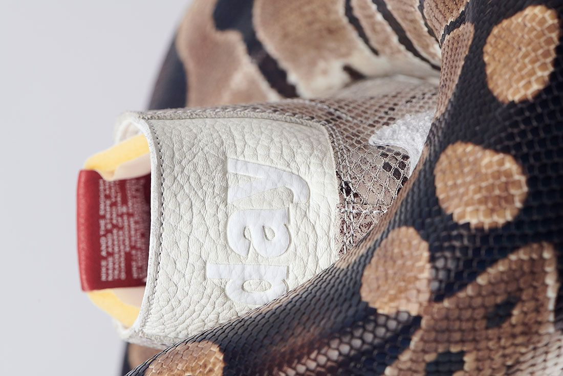 Soulland Nike Sb Blazer Snake Snakeskin Heel Close Up 1