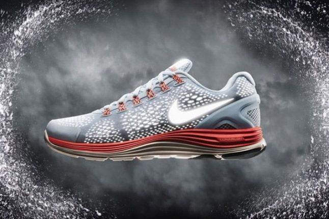 Nike Lunarglide 4 Shield 2012 Grey Red 1
