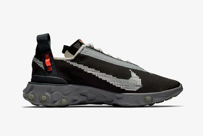 Nike Ispa React Low Black Right