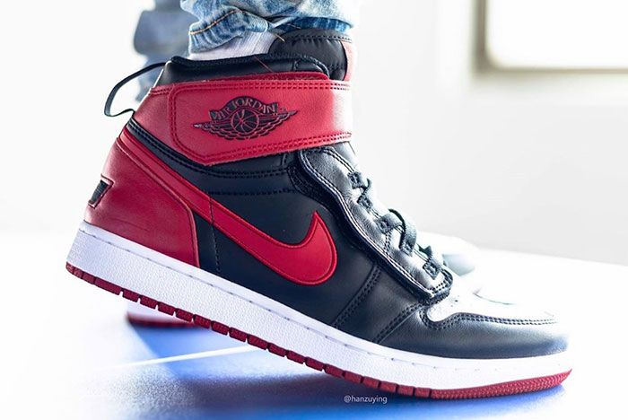 Air Jordan 1 Fly Ease Gym Red Cq3835 001 Release Date 5 On Foot