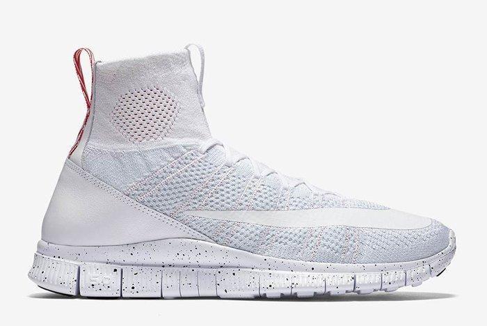 Nike Free Mercurial Superfly Triple White 01