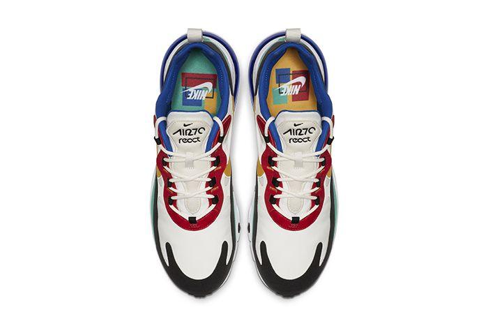 Nike Air Max 270 React Bauhaus Mens Release Date Top Down