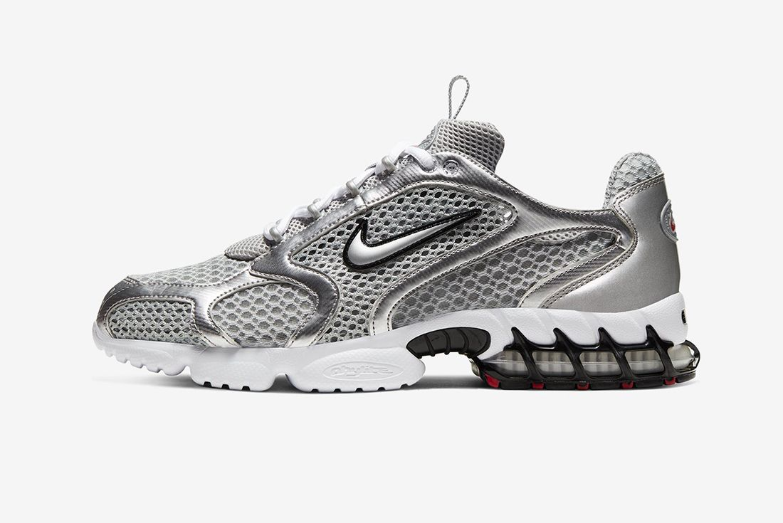 Nike Air Zoom Spiridon Cage 2 Silver Left