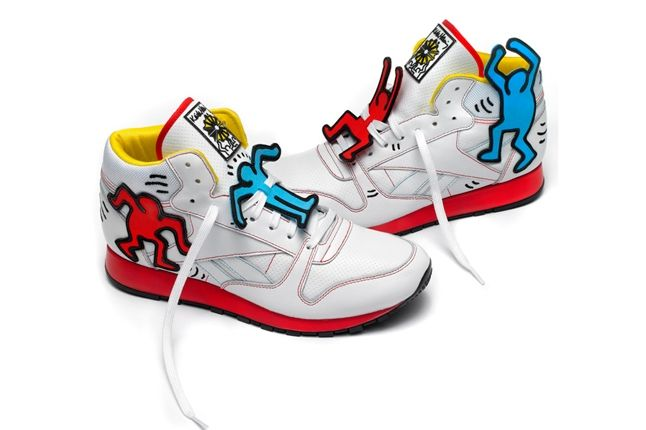 Reebok Keith Haring Classic Leather Mid Lux Pair 1