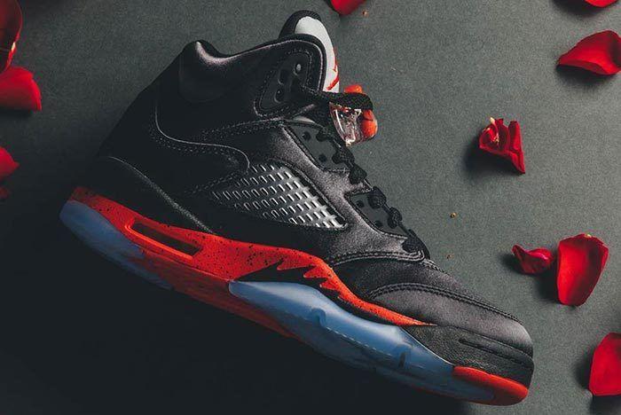 Satin' Air Jordan 5s - Sneaker Freaker