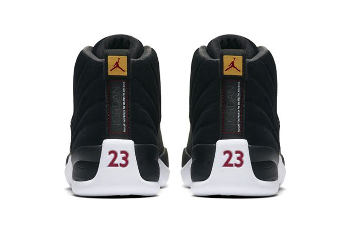 Air Jordan 12 Reverse Taxi 130690 017 Release Date Heel