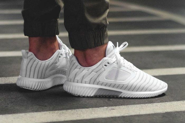 Adidas Climacool 2017 Triple White On Feet Thumb