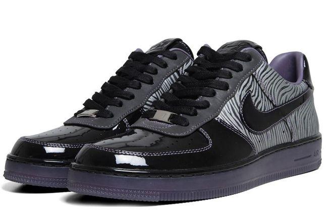 Nike Air Force 1 Downtown Qs Zebra Quater Pair 1