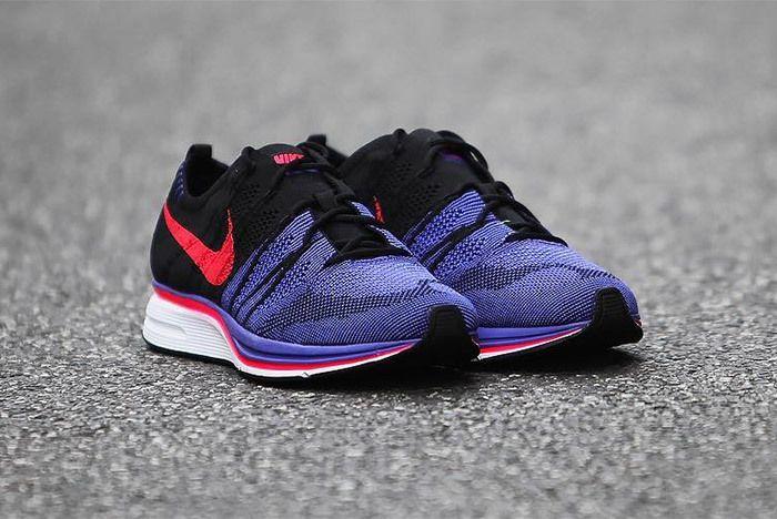 Nike Flyknit Trainer Red Purple Black 7