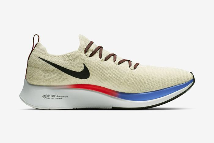 Nike Zoom Fly Flyknit Light Cream University Red Sapphire Black Ar4561 200 Release Date Medial