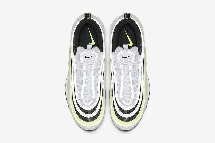 Nike Air Max 97 White Black Volt Reflective Release Date Top Down