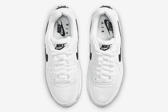 Nike Air Max 90 White Black Womens Top