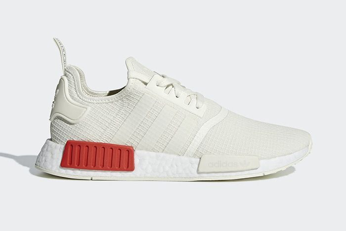 Adidas Nmd R1 Off White Lush Red 1