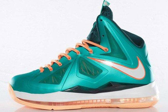 Nike Lebron X Dolphins European Release Lateral 1