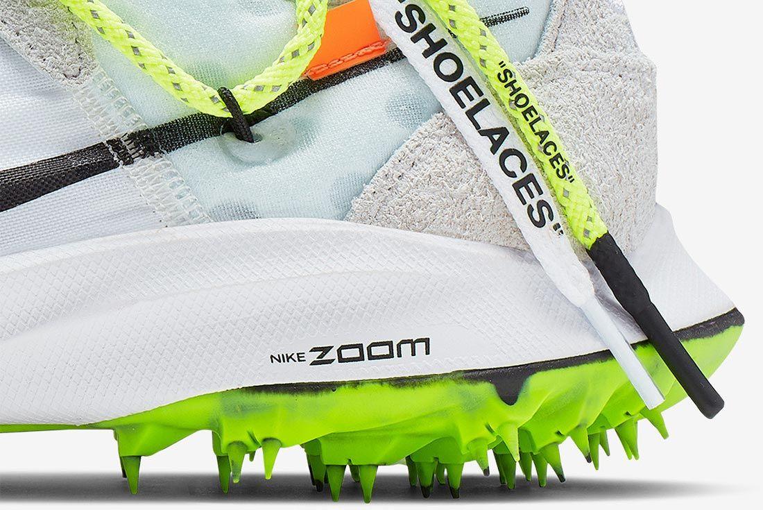 Off White Nike Zoom Terra Kiger 5 White Cd8179 100 Close Up Heel Shot