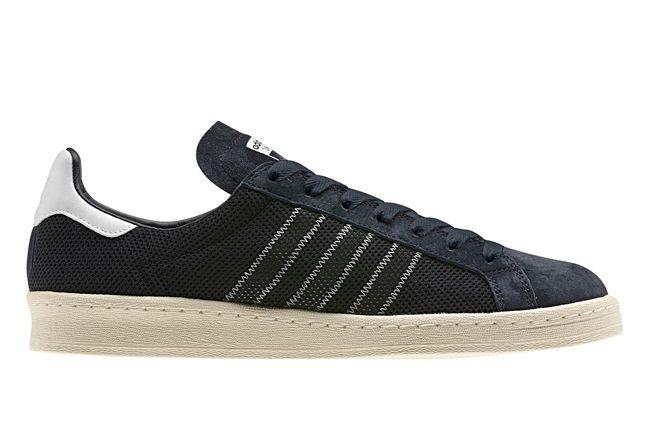 Adidas Originals Superstar Suede Perf Navy Profile 1