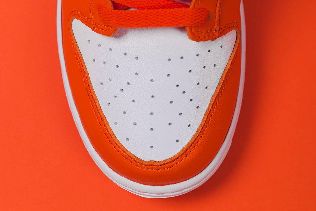 Up There Store Nike Dunk Low Sp White Orange Blaze Toebox