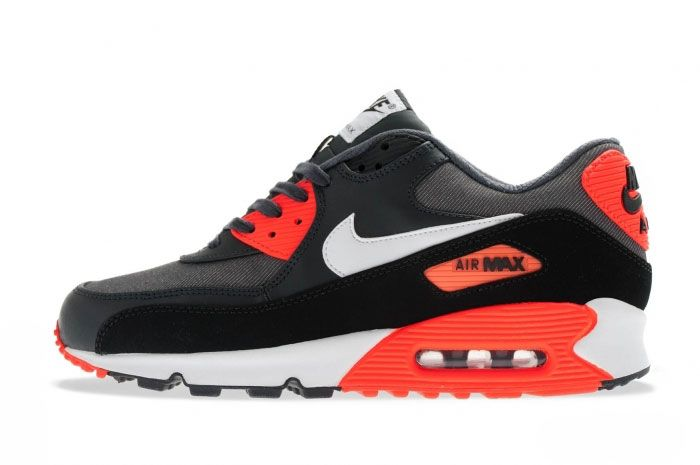 Nike Air Max 90 Black Total Crimson Side 1