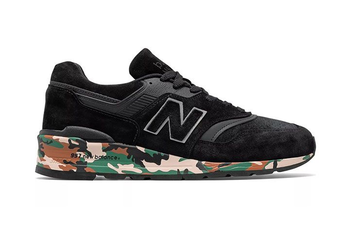 New Balance Made In Usa 997 Black Camo Side Shot Lateral