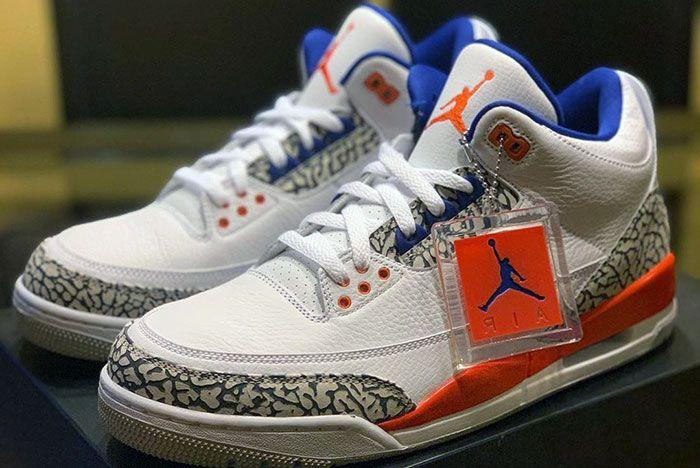 Air Jordan 3 Knicks Detailed Shots Pair3 Side