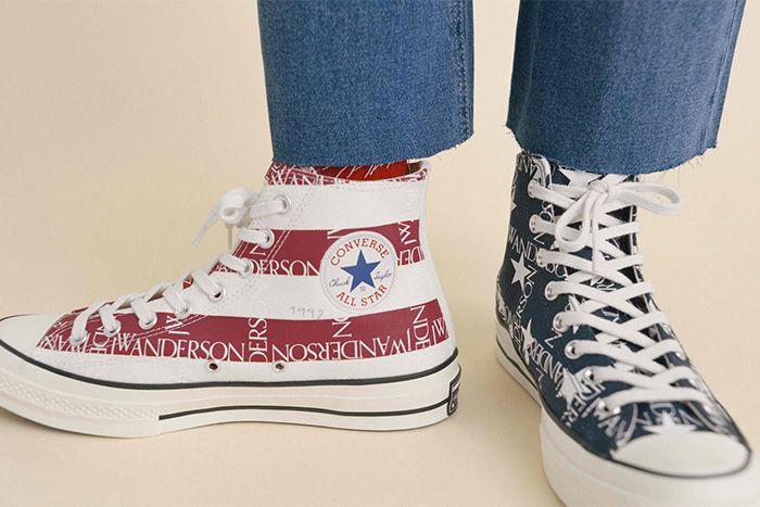 Jw Anderson Converse Chuck 70 American Flag Release Date Closeup