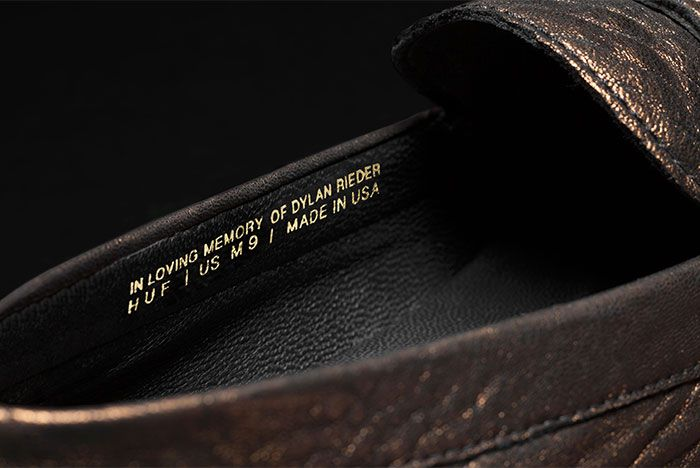 Huf Dylan Driver Metallic Leather Dylan Rieder Inner View