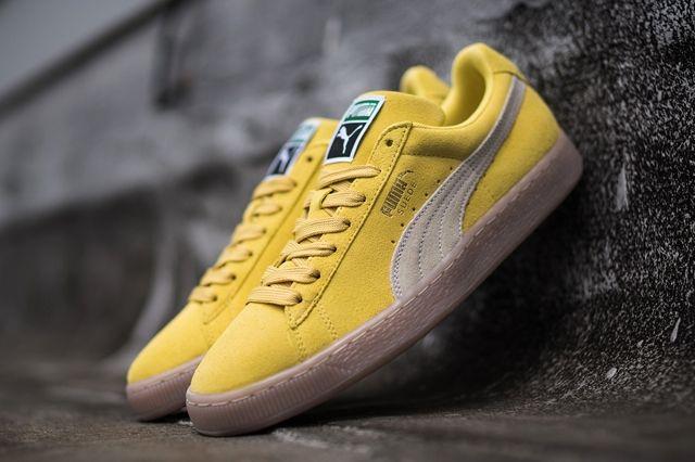 Puma Suede Yellow Grey Gum
