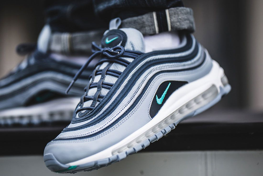 Nike Air Max 97 Monsoon Blue Ci6392 400 On Foot Lateral Side Shot