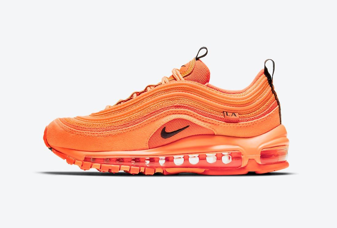 The Nike Air Max 97 GS Pays Tribute to LA in Outrageous Orange ...