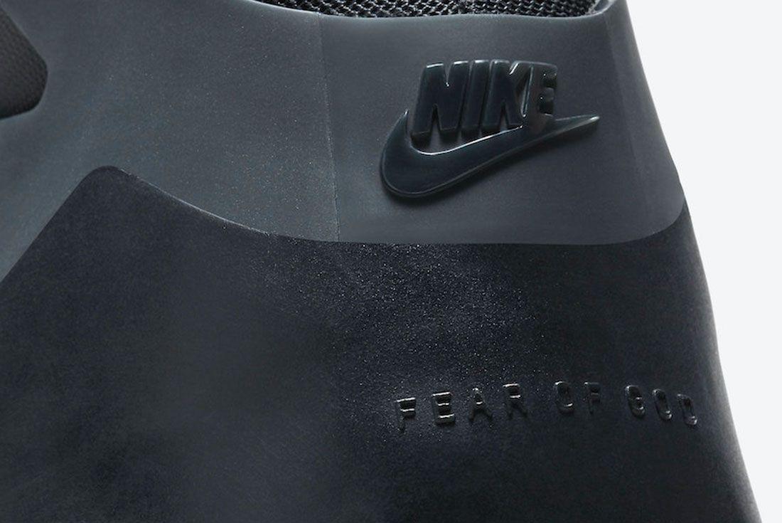 Nike Air Fear of God 1 'Triple Black' AR4237-005 Heel Close