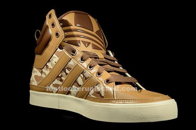 Adidas Top Court Camo Khaki Angle 1