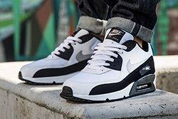 Nike Air Max 90 White Wolf Grey Black Thumb