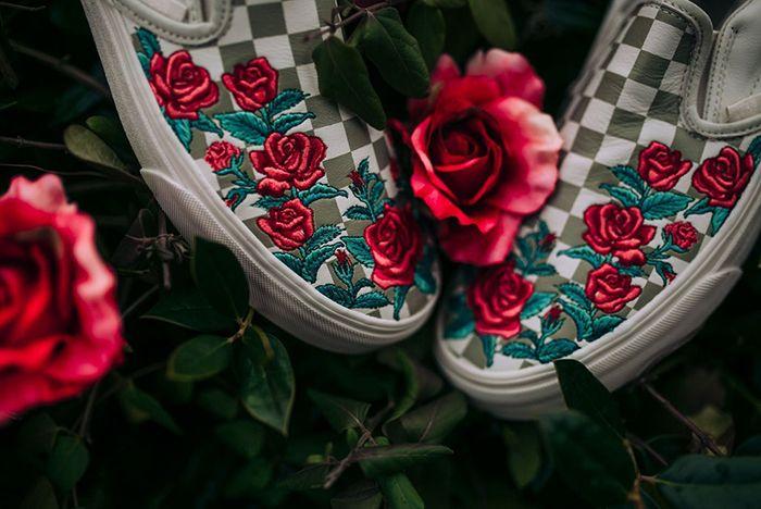 Vans Slip On Roses Sneaker Freaker 1