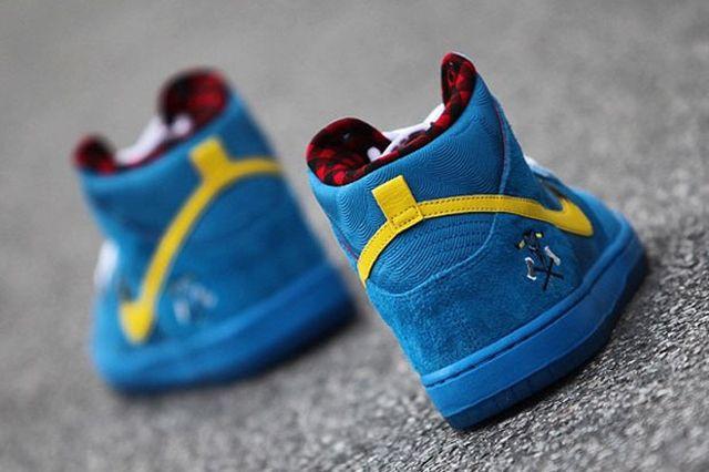 Familia Skates Nike Sb Dunk High Blue Ox 05