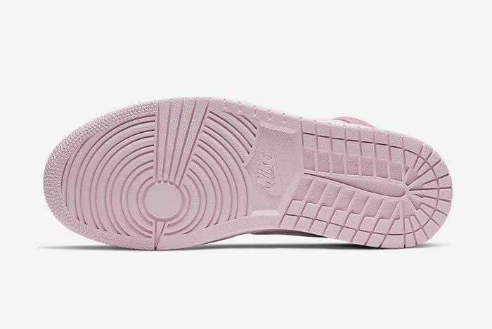 Air Jordan 1 Mid Wmns Digital Pink Outsole