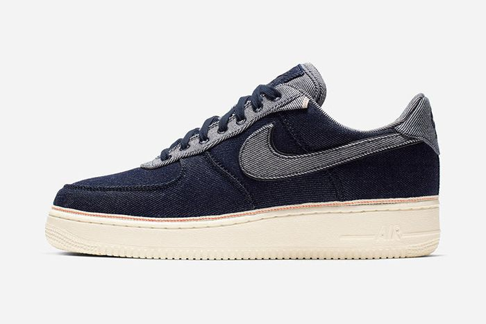 3X1 Nike Air Force 1 Low Denim Dark Release Date Lateral