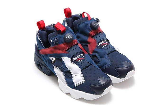 Reebok Insta Pump Fury Big Logo Red White Blue 5
