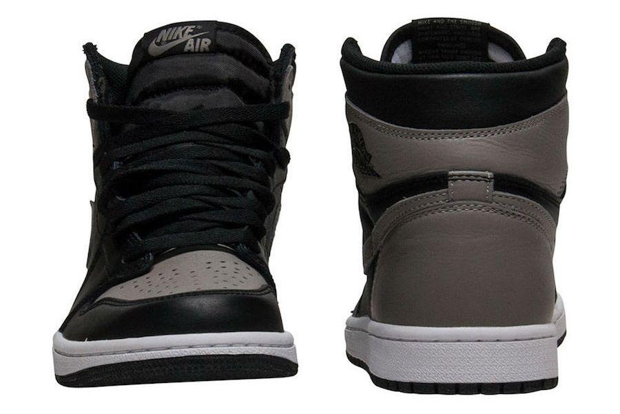 Shadow Air Jordan 1 2018 Retro 555088 013 Front Heel Sneaker Freaker