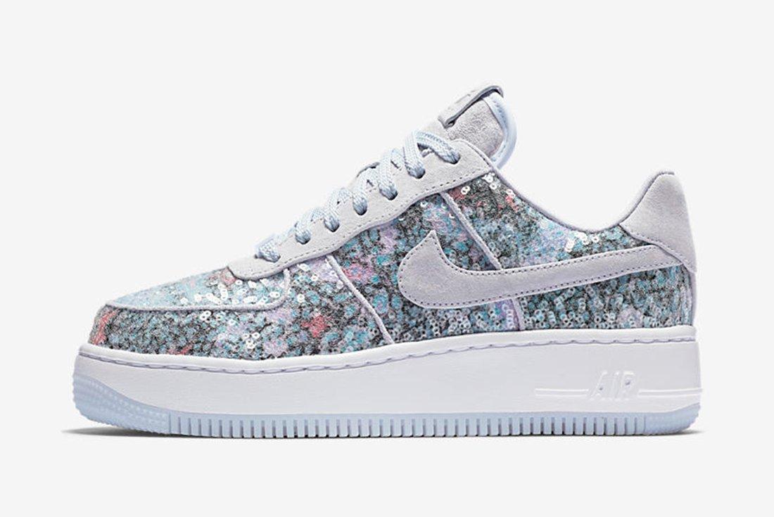 Nike Air Force 1 Upstep Low Glass Slipper 1