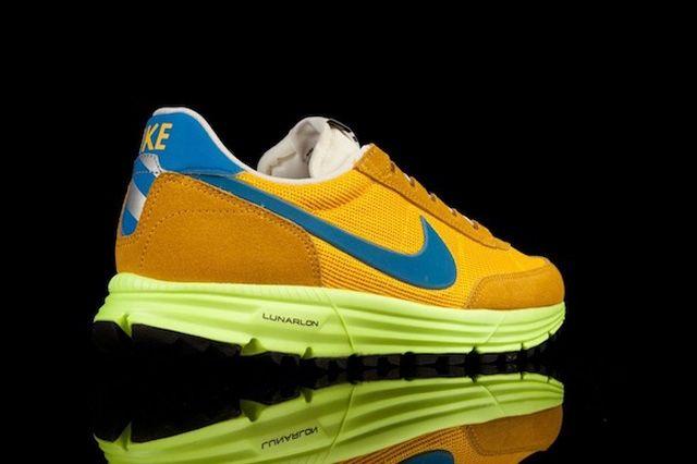 Nike Lunar Ldv Trail Qs Yellow Blue Heel Quarter