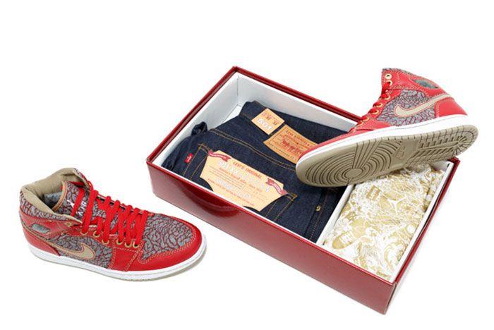 Levis 501 Nike Air Jordan 1