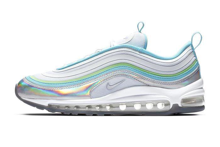 Iridescent Silver Nike Air Max 97 Lateral