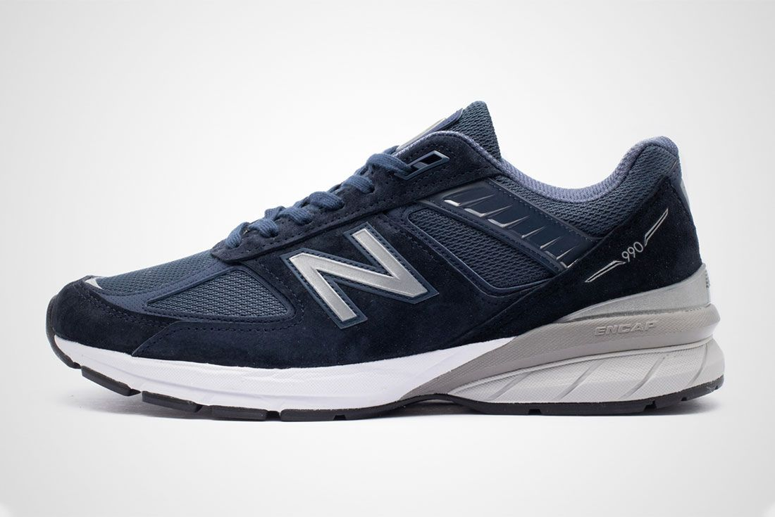 New Balance 990V5 Navy Left Header